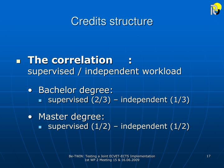 Credits structure