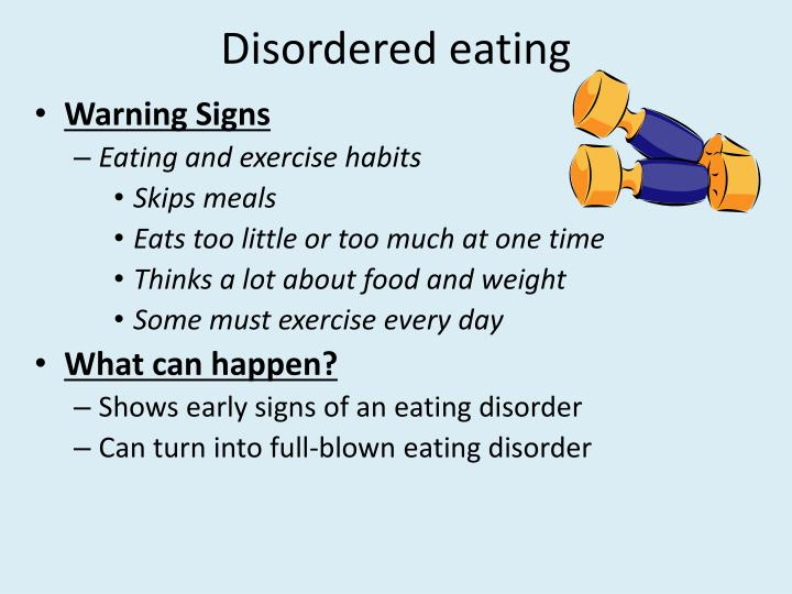 Learn more from WebMD about the signs of eating disorders