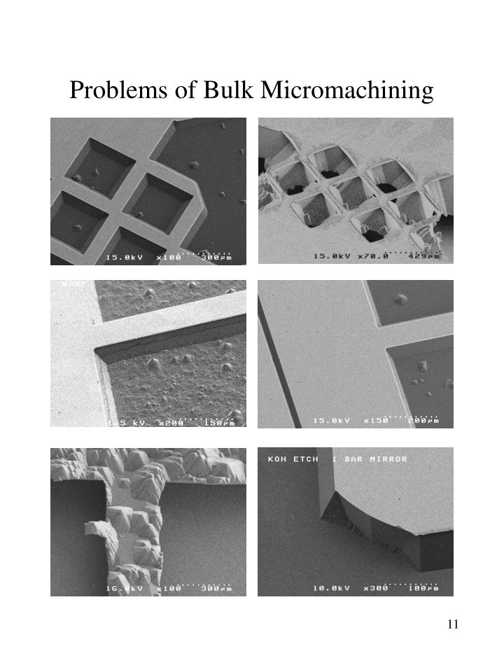 Problems of Bulk Micromachining