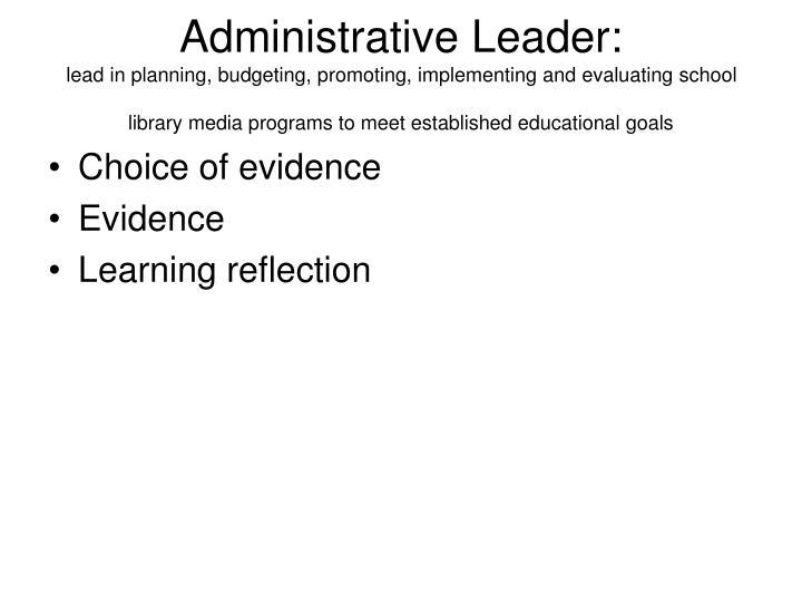 Administrative Leader: