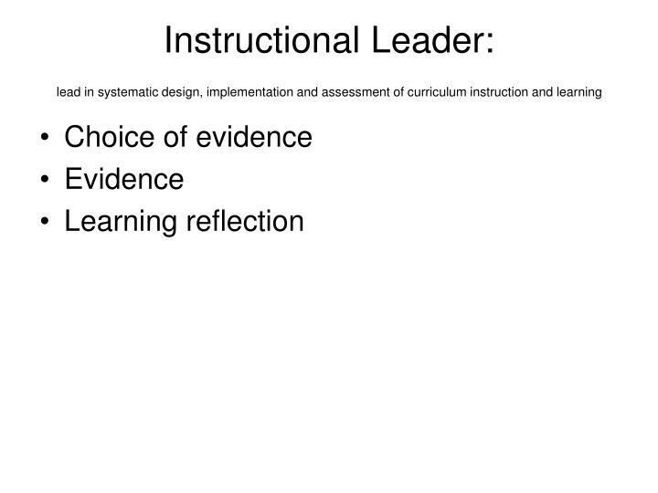 Instructional Leader: