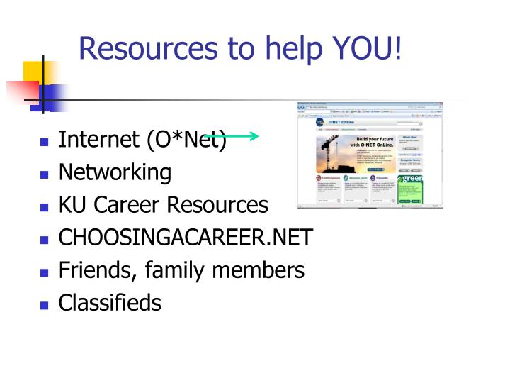 Resources to help YOU!