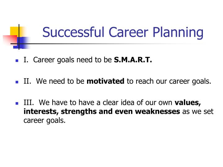 Successful Career Planning