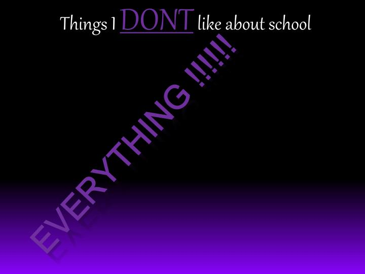 Things I