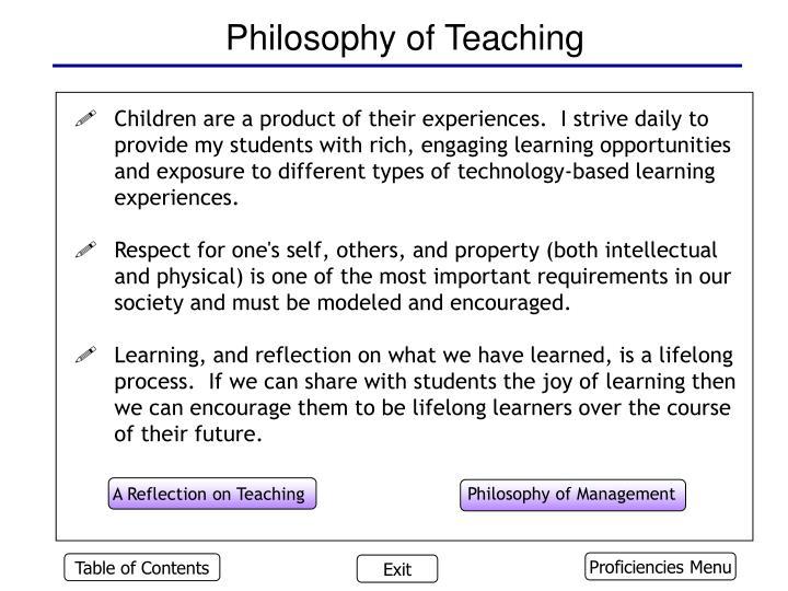 Philosophy of teaching