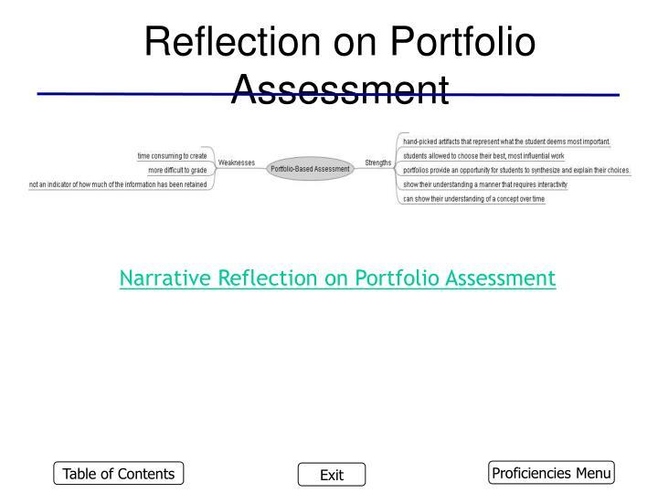 Reflection on Portfolio Assessment