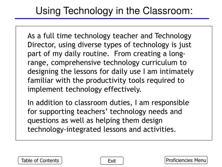 Using Technology in the Classroom: