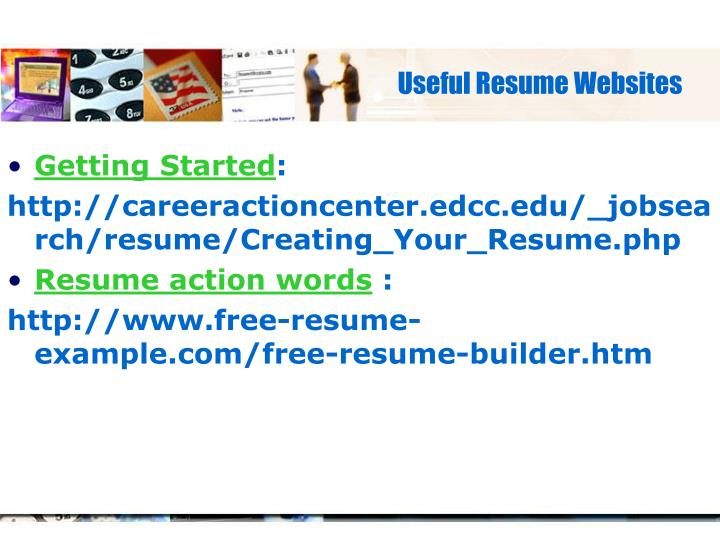 Useful Resume Websites