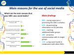 main reasons for the use of social media