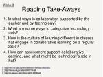 reading take aways1