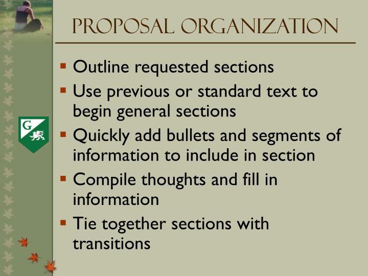 Proposal Organization