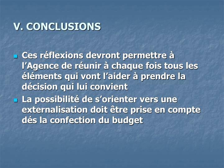 V. CONCLUSIONS