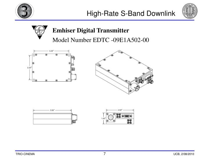 High-Rate S-Band Downlink