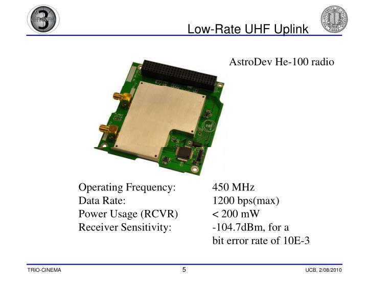 Low-Rate UHF Uplink
