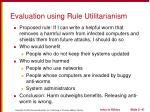evaluation using rule utilitarianism