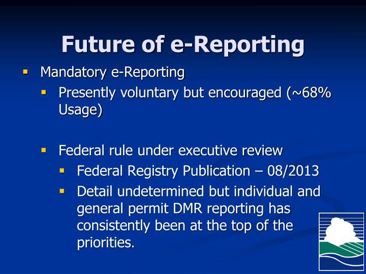 Future of e-Reporting