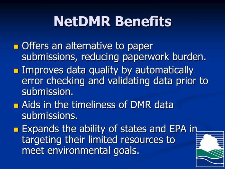NetDMR Benefits