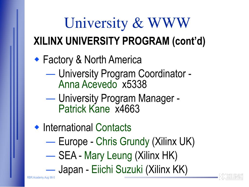 PPT - University Program & World Wide Web PowerPoint