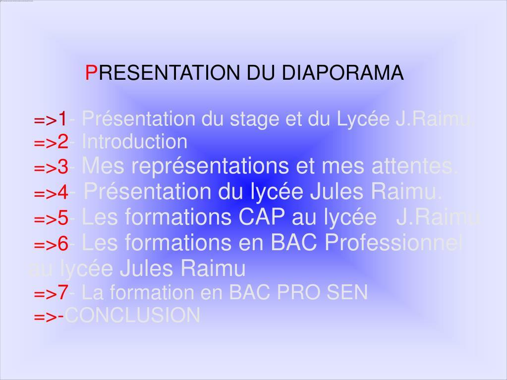 Ppt Le D Iaporama De Stage En Lycée Professionnel