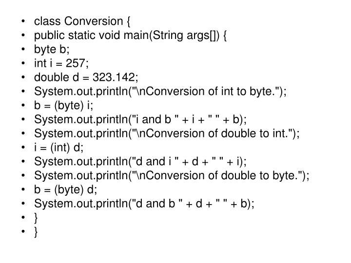 class Conversion {