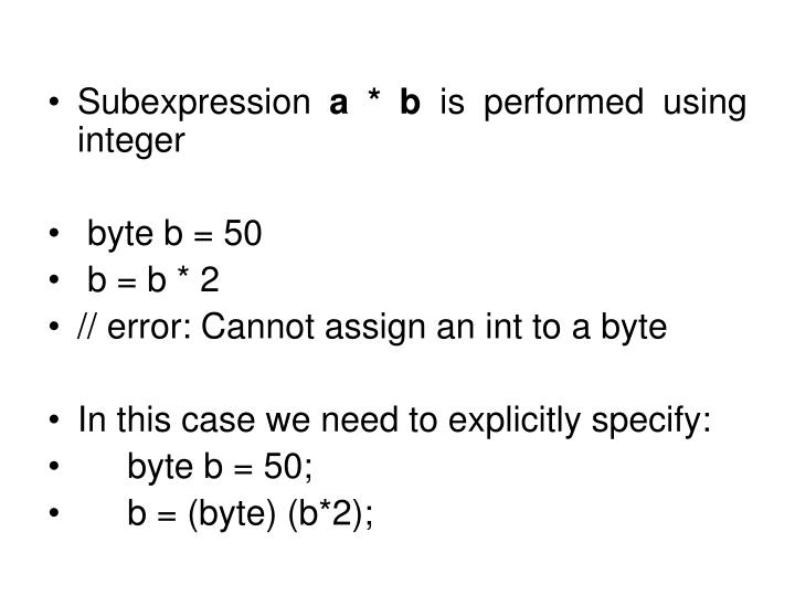 Subexpression