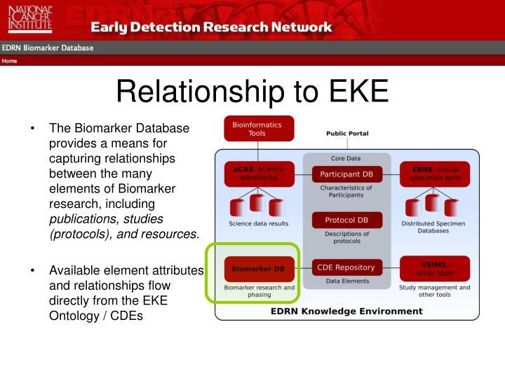 Relationship to eke