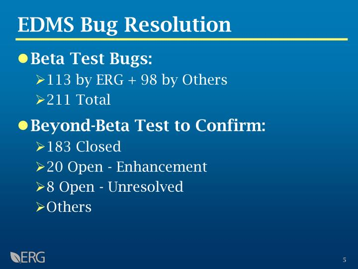 EDMS Bug Resolution