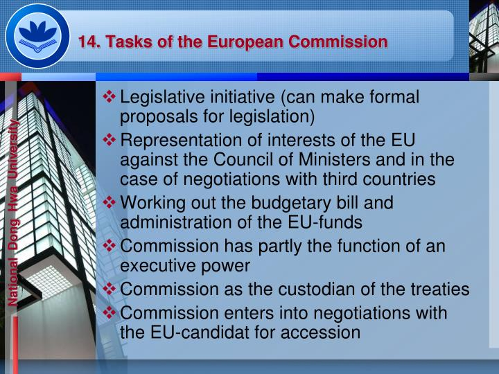 14. Tasks of the European Commission