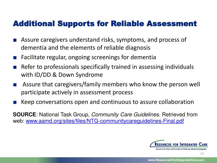 Additional Supports for Reliable Assessment