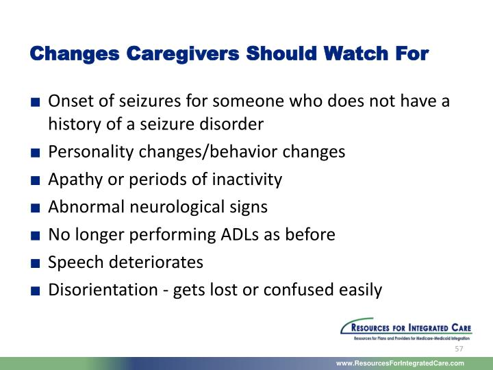 Changes Caregivers Should Watch For