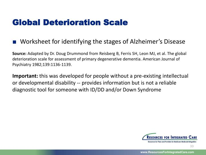 Global Deterioration Scale
