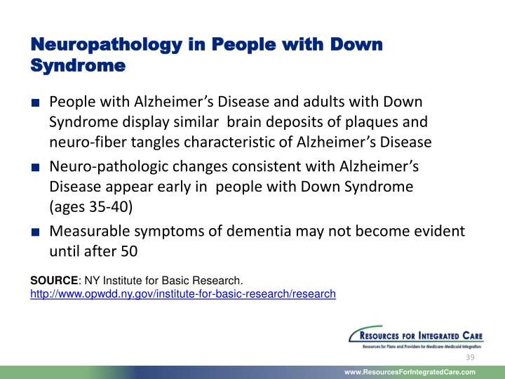 Neuropathology in People with Down Syndrome