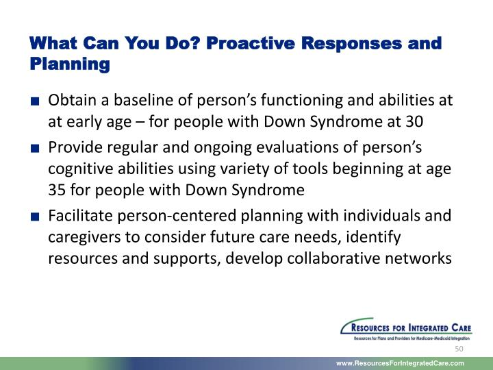 What Can You Do? Proactive Responses and Planning