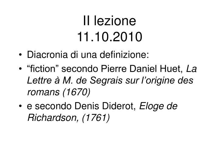 Ii lezione 11 10 2010