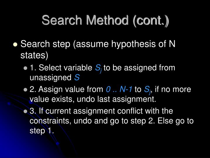 Search Method (cont.)