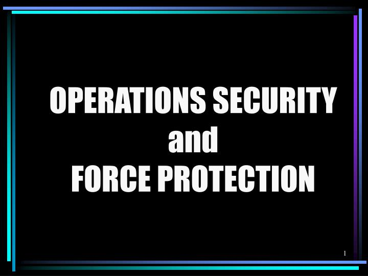 operations security and force protection n.