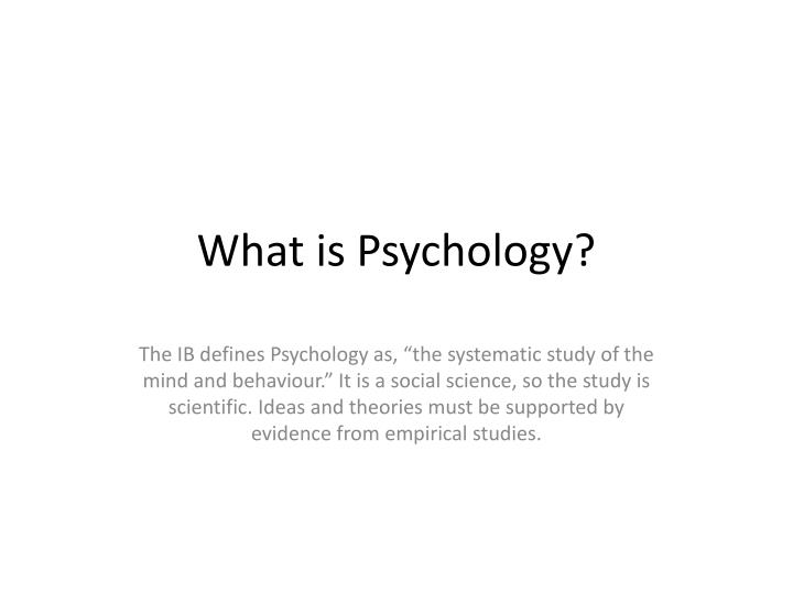 psychology extended essay introduction Buy custom psychology essay introduction child psychology has been known to put its focus on the mind and the this phenomenon happens in both extended and.