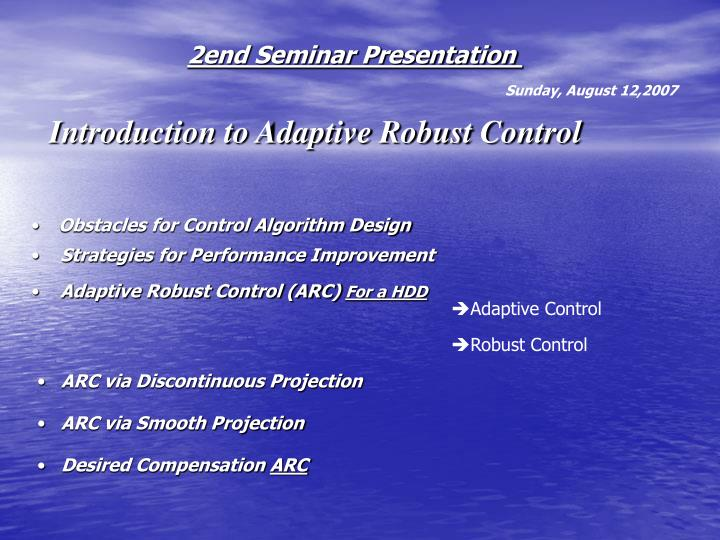 2end Seminar Presentation