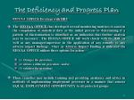 the deficiency and progress plan