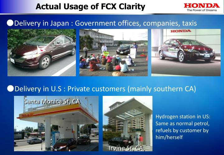 Actual Usage of FCX Clarity