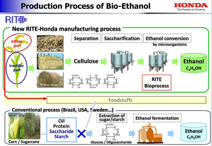 Production Process of Bio-Ethanol