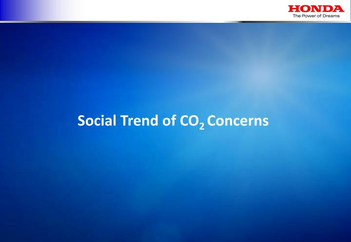 Social Trend of CO