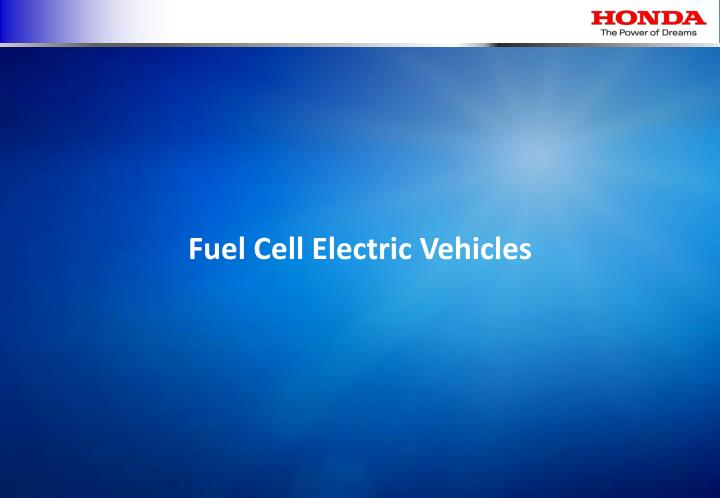 Fuel Cell Electric Vehicles