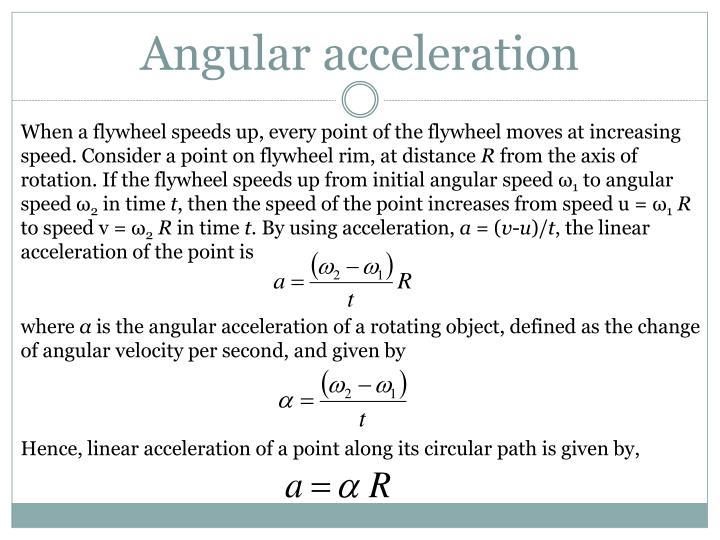Angular acceleration