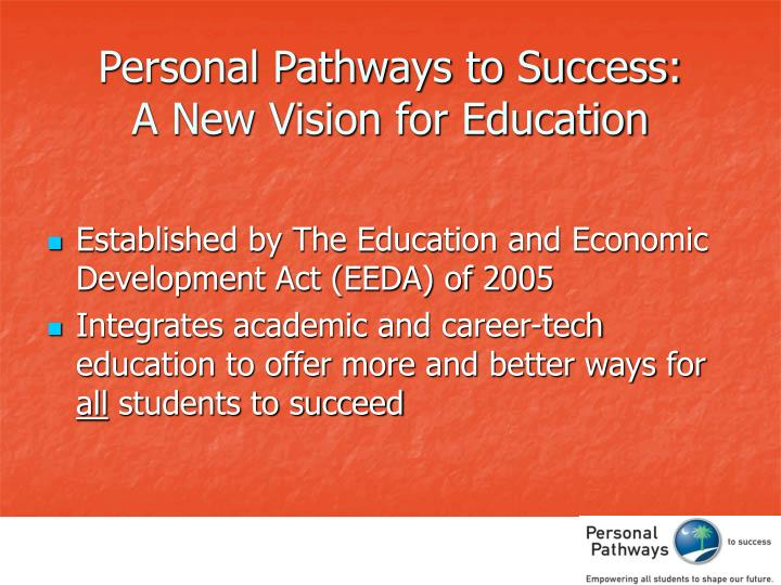 Personal Pathways to Success: