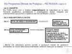 els programes oficials de postgrau rd 56 2005 cap tol i