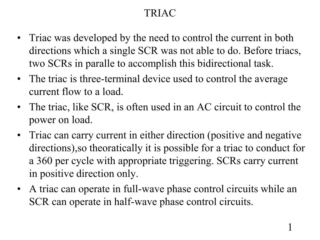 Ppt Triac Powerpoint Presentation Id4060409 Circuit Positive And Negative Half Cycles Halfcycle N