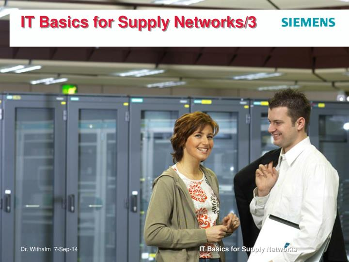 it basics for supply networks 3 n.