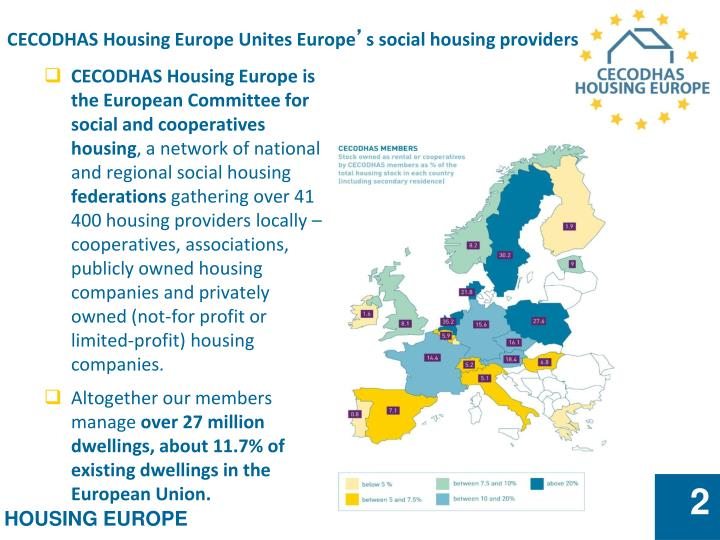 Cecodhas housing europe unites europe s social housing providers