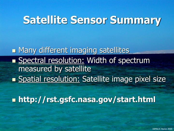 Satellite Sensor Summary